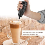 TOPINCN Black Household Electric Handheld Egg-beater Egg Breaker Whisk Milk Frother Food Mixer