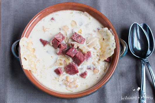 Low-Carb Slow-Cooker Reuben Soup // Crocktober 2016 - Sustaining the Powers