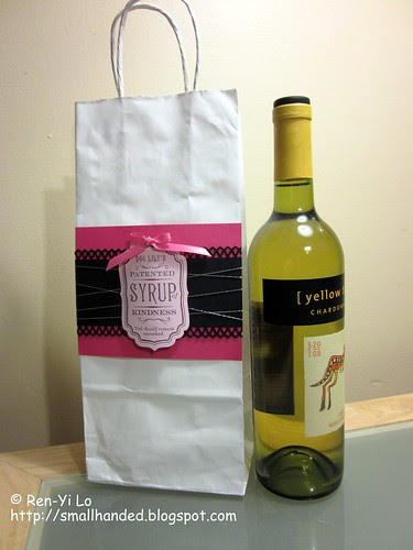 Embellished Wine Gift Bag