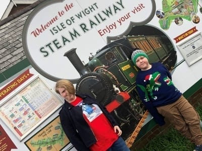 Taking the Scenic Isle of Wight Steam Railway to Meet Santa