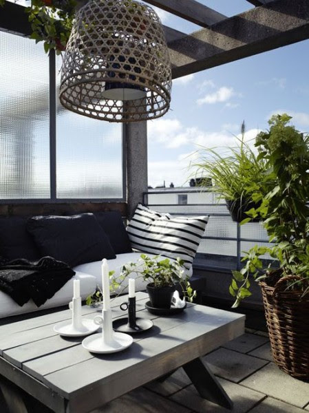 Scandinavian terrace with clean furniture-Trendy designs for outdoor home spaces