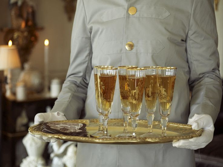 Champagne anyone? From FIFTH AVENUE STYLE, by Howard Slatkin