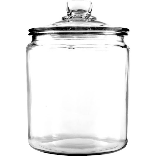 Anchor Hocking Montana Glass Jar with Lid, Clear