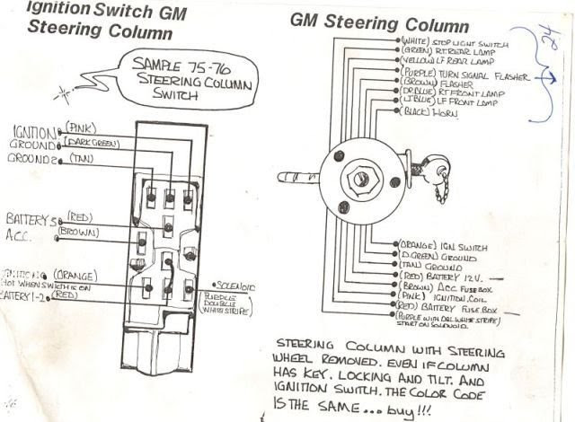 Gm Ignition Switch Wiring Diagram 1973, Wiring Diagram Ignition Switch
