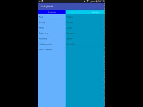 Android - Create Sliding Panel like Gmail app on Tablet