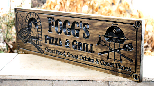 Feat.  Product Pizza Oven sign (CWD-405)