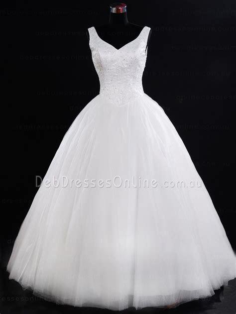 Princess Cut V Neckline Tulle Debutante Dress   Dennise