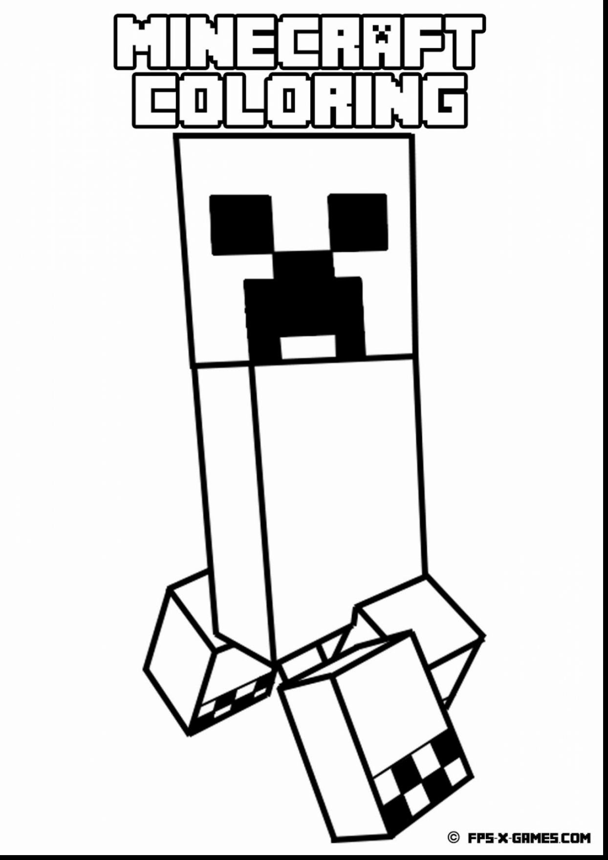 Minecraft Coloring Pages Zombie Pigman Coloring And Drawing