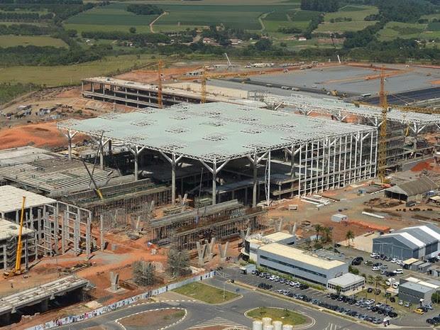 Obras do novo terminal de Viracopos chegaram a 80% de conclusão (Foto: Aeroportos Brasil Viracopos)