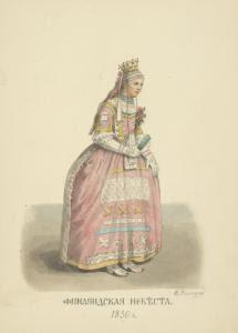 Finliandskaia nevesta. 1830. Digital ID: 1590581. New York Public Library