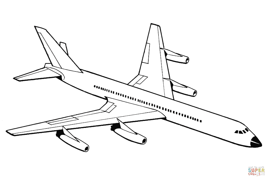 Realistic Airplane Coloring Pages Coloring And Drawing