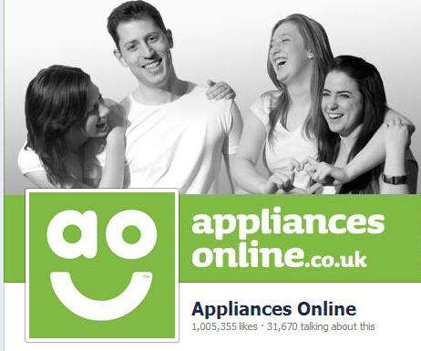 appliances online facebook header