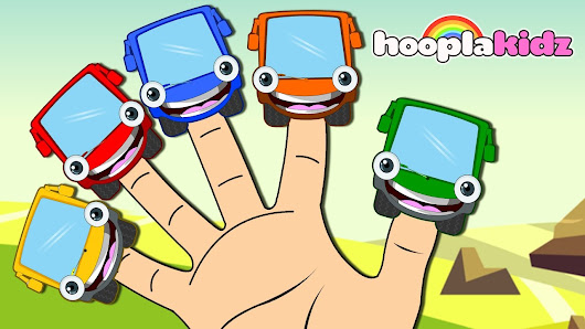 Learn Colors With Wheels On The Bus Finger Family Song Nursery Rhymes Collection By Hooplakidz