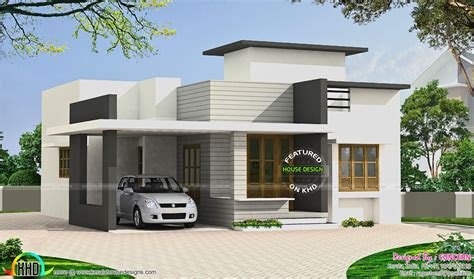 small budget flat roof house kerala home design floor