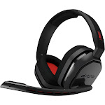 ASTRO A10 Over-Ear Headset - Uni-Directional - Gray/Red