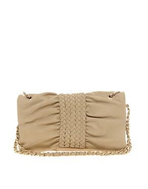 Image 1 ofNali Plait Front Shoulder Bag With Chain Strap