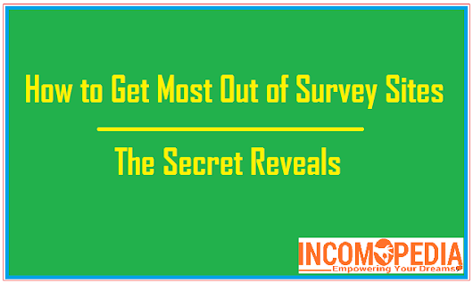 Tips to Increase Your Survey Site's Earning | The Secret Reveals