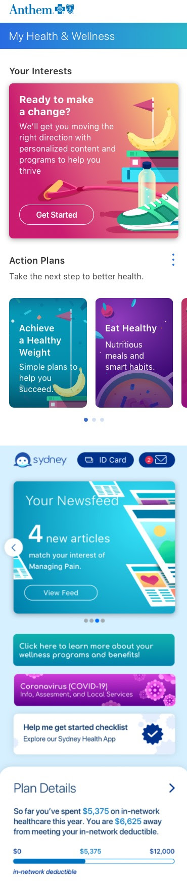 Anthem Sydney Health app is both insurance guide and ...