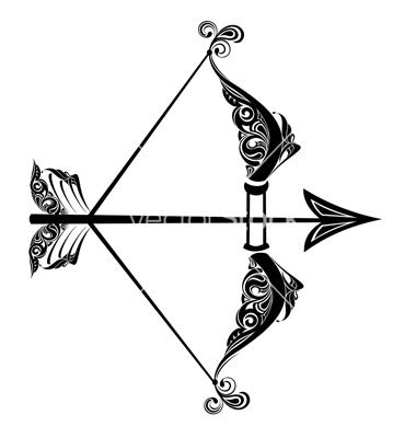 Sagittarius Bow And Arrow Tattoo Design