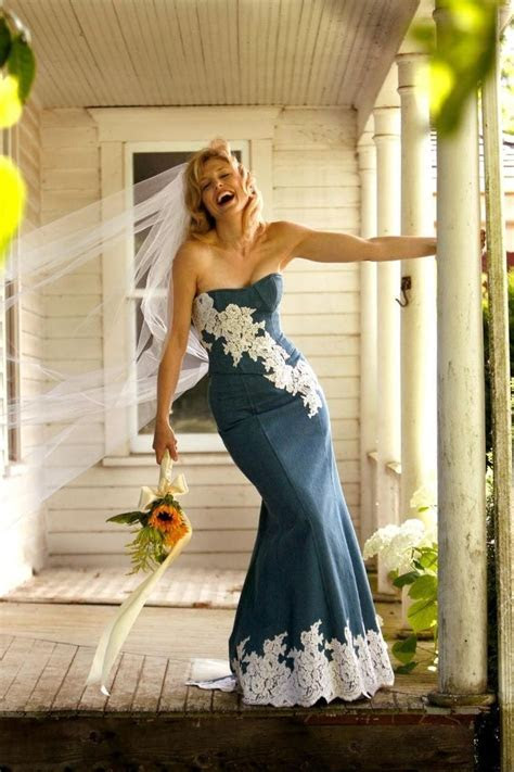 Novelty denim wedding dress.   TEXAS   Denim wedding