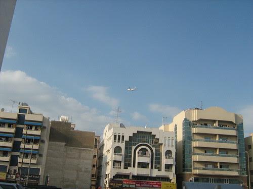 Plane flying past Diera