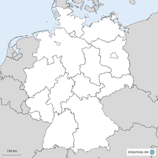 Stumme Karte Deutschland Bundesländer.25 Bilder Blankokarte Deutschland