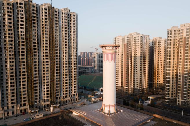 En China han construido un purificador del aire