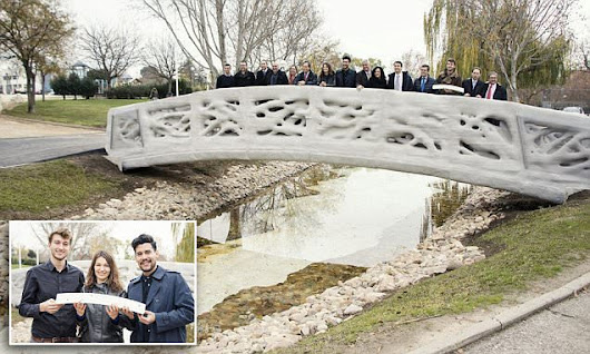 Get over it! World's first 3D-printed bridge pops up in Madrid