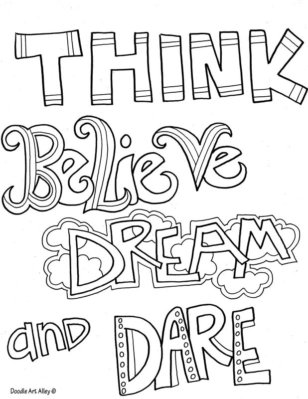 Latest HD Life Quotes Coloring Pages