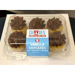 Divvies Vegan Nut Free Vanilla Cupcakes With Chocolate Frosting School Friendly, 6Oz. (Pack Of 12)