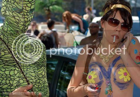 Coney Island Mermaid parade smoking