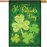 Lucky Shamrocks House Flag