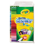 Washable Super Tips Markers With Silly Scents, Assorted, 50/Set