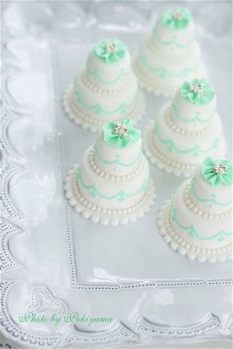 mint green mini wedding cake