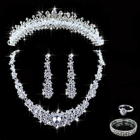 Crystal Bridal Jewelry Sets Hotsale Necklace Earrings
