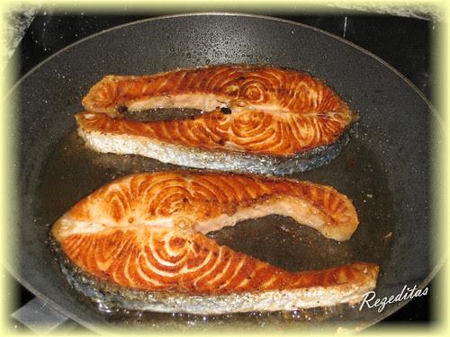 salmon en salsa de jengibre