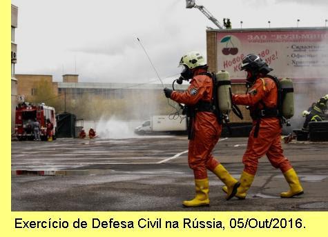 Exercício de Defesa Civil.