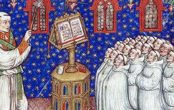 Monk medieval choir