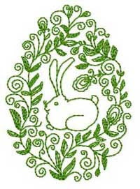 Easter Bunny FREE Embroidery Design