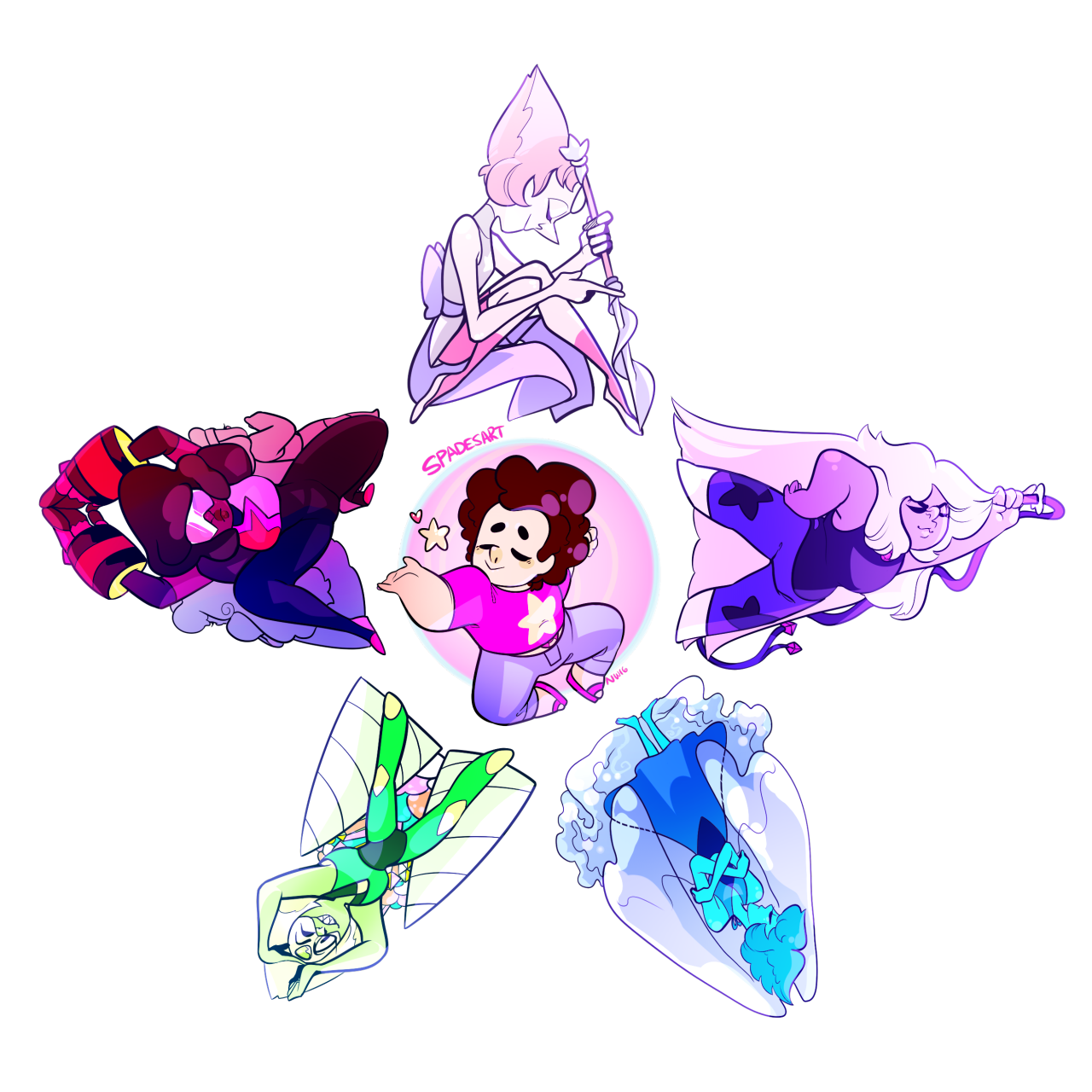 Crystal Gems star shirt design ive been wanting to make!!! BUY IT HERE!