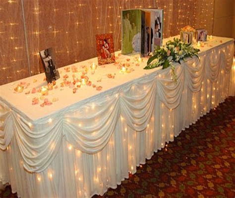 Wedding Table Cloth Decorations