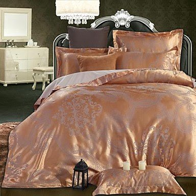 BuW BETTERHOME Duvet Cover/Duvet Cover Set Comfort Luxury Modern 4 Piece Jacquard Faux Silk Full,duvet covers, bedding, bedroom sets, comforter sets, duvet, comforters