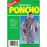 "Coghlans 9173 Emergency Hooded Poncho, Clear, 50"" x 80"""