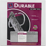 Avery Durable - Presentation ring binder - for 500 sheets - white