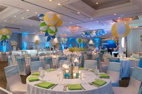 Blue, Green, and Yellow Beach Ball Themed Bat Mitzvah