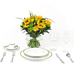 USA Bouquet Wedding Collection Country Sunflower, Centerpieces (6 Pieces)