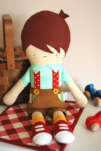 Hans doll sewing pattern by Retro Mama