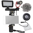 Movo Smartphone Video Kit V1 with Grip Rig, Shotgun Microphone, LED Light & Wireless