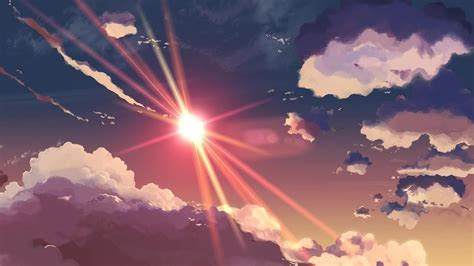 centimeters   anime makoto shinkai skyscapes