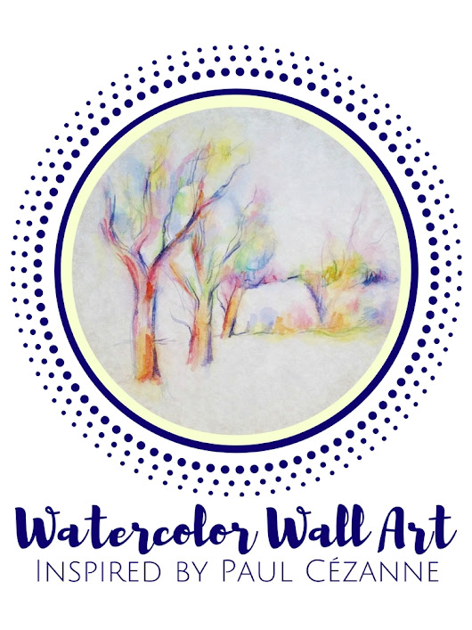 Watercolor Wall Art For Kids: Inspired By Paul Cézanne